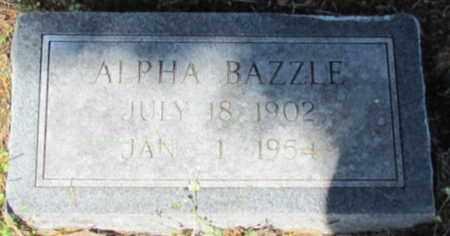 BAZZLE, ALPHA - White County, Arkansas | ALPHA BAZZLE - Arkansas Gravestone Photos
