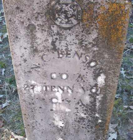 BENSON (VETERAN CSA), N C - White County, Arkansas | N C BENSON (VETERAN CSA) - Arkansas Gravestone Photos