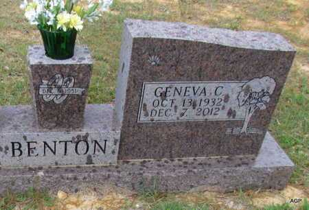 BENTON, GENEVA C - White County, Arkansas | GENEVA C BENTON - Arkansas Gravestone Photos