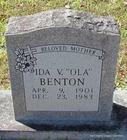 "BENTON, IDA V ""OLA"" - White County, Arkansas   IDA V ""OLA"" BENTON - Arkansas Gravestone Photos"