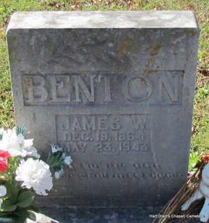 BENTON, JAMES WASHINGTON (CLOSE UP) - White County, Arkansas | JAMES WASHINGTON (CLOSE UP) BENTON - Arkansas Gravestone Photos