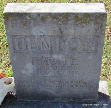 BENTON, SARAH EMILY (CLOSE UP) - White County, Arkansas | SARAH EMILY (CLOSE UP) BENTON - Arkansas Gravestone Photos