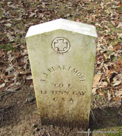BLAKEMORE (VETERAN CSA), T J - White County, Arkansas   T J BLAKEMORE (VETERAN CSA) - Arkansas Gravestone Photos