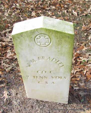 BRADLEY (VETERAN CSA), W M - White County, Arkansas | W M BRADLEY (VETERAN CSA) - Arkansas Gravestone Photos