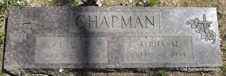 CHAPMAN, CECIL - White County, Arkansas   CECIL CHAPMAN - Arkansas Gravestone Photos