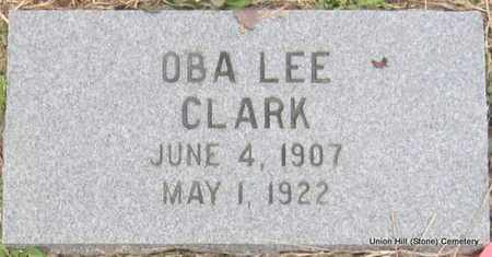CLARK, OBA LEE - White County, Arkansas   OBA LEE CLARK - Arkansas Gravestone Photos