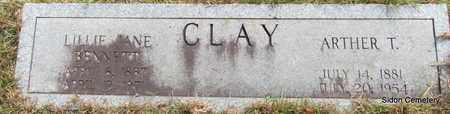 CLAY, ARTHER T - White County, Arkansas | ARTHER T CLAY - Arkansas Gravestone Photos