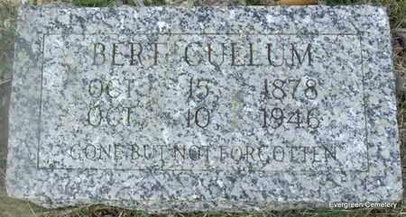 CULLUM, BERT - White County, Arkansas   BERT CULLUM - Arkansas Gravestone Photos