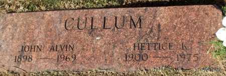 CULLUM, JOHN ALVIN - White County, Arkansas   JOHN ALVIN CULLUM - Arkansas Gravestone Photos
