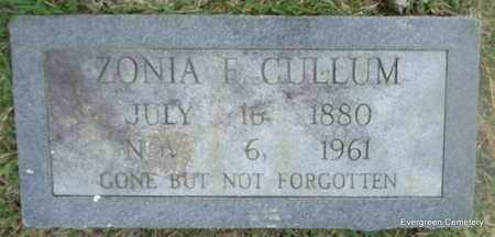 CULLUM, ZONIA F - White County, Arkansas | ZONIA F CULLUM - Arkansas Gravestone Photos
