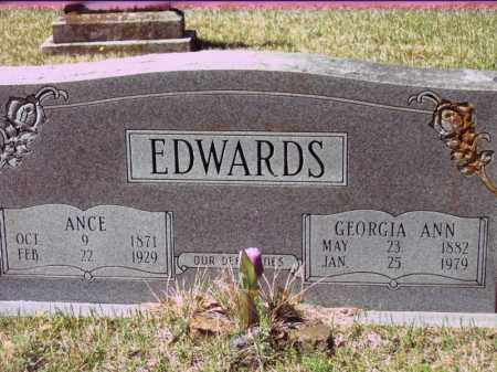 EDWARDS, GEORGIA ANN - White County, Arkansas | GEORGIA ANN EDWARDS - Arkansas Gravestone Photos
