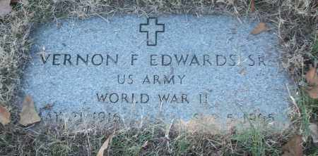 EDWARDS, SR  (VETERAN WWII), VERNON F - White County, Arkansas   VERNON F EDWARDS, SR  (VETERAN WWII) - Arkansas Gravestone Photos