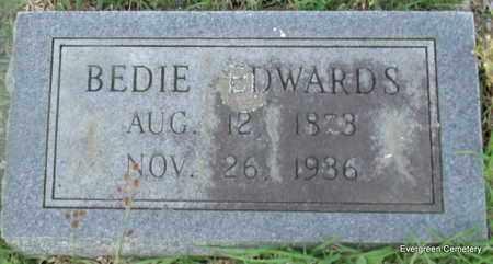EDWARDS, BEDIE - White County, Arkansas | BEDIE EDWARDS - Arkansas Gravestone Photos