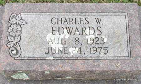 EDWARDS, CHARLES W (CLOSE UP) - White County, Arkansas | CHARLES W (CLOSE UP) EDWARDS - Arkansas Gravestone Photos