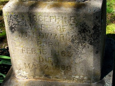 EDWARDS, JOSEPHINE (CLOSE UP) - White County, Arkansas | JOSEPHINE (CLOSE UP) EDWARDS - Arkansas Gravestone Photos