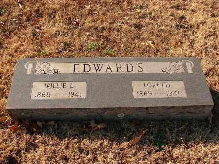 EDWARDS, WILLIE L - White County, Arkansas | WILLIE L EDWARDS - Arkansas Gravestone Photos