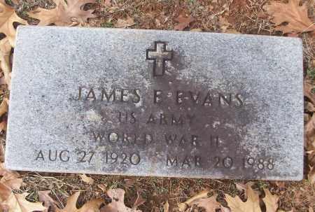 EVANS (VETERAN WWII), JAMES B - White County, Arkansas | JAMES B EVANS (VETERAN WWII) - Arkansas Gravestone Photos