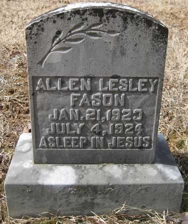 FASON, ALLEN LESLEY - White County, Arkansas | ALLEN LESLEY FASON - Arkansas Gravestone Photos