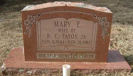 FASON, MARY E - White County, Arkansas | MARY E FASON - Arkansas Gravestone Photos