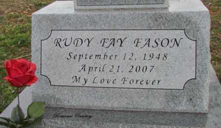 FASON, RUDY FAY (CLOSE UP) - White County, Arkansas | RUDY FAY (CLOSE UP) FASON - Arkansas Gravestone Photos