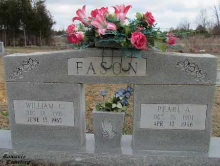 FASON, PEARL A - White County, Arkansas | PEARL A FASON - Arkansas Gravestone Photos