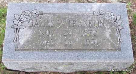 FRANKLIN, JAMES W - White County, Arkansas | JAMES W FRANKLIN - Arkansas Gravestone Photos