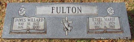 FULTON, JAMES WILLARD - White County, Arkansas | JAMES WILLARD FULTON - Arkansas Gravestone Photos