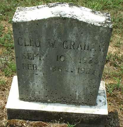 GRAHAM, CLEO W - White County, Arkansas | CLEO W GRAHAM - Arkansas Gravestone Photos