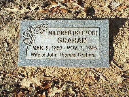 HELTON GRAHAM, MILDRED - White County, Arkansas   MILDRED HELTON GRAHAM - Arkansas Gravestone Photos