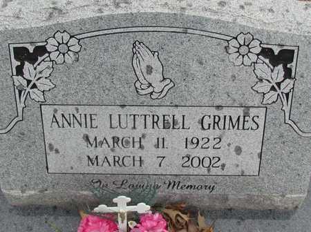 GRIMES, ANNIE - White County, Arkansas | ANNIE GRIMES - Arkansas Gravestone Photos