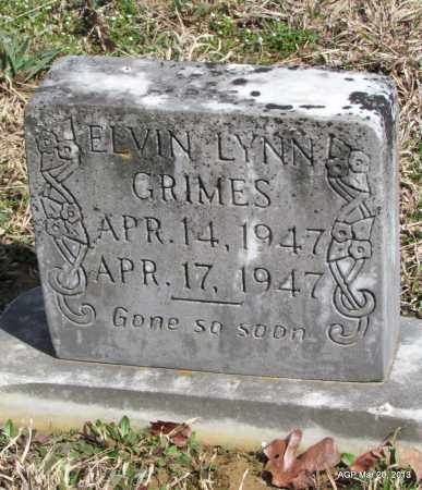 GRIMES, ELVIN LYNN - White County, Arkansas | ELVIN LYNN GRIMES - Arkansas Gravestone Photos
