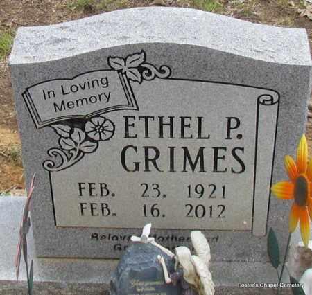 GRIMES, ETHEL P - White County, Arkansas | ETHEL P GRIMES - Arkansas Gravestone Photos