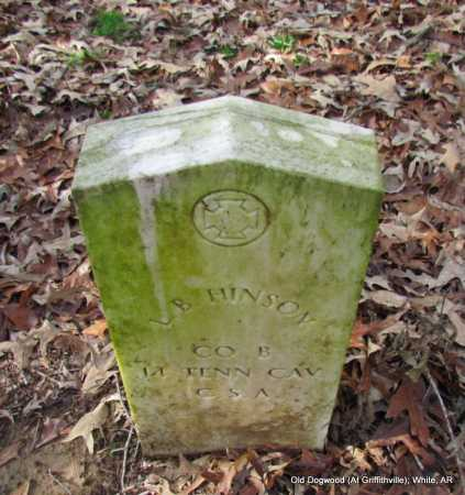 HINSON (VETERAN CSA), L B - White County, Arkansas | L B HINSON (VETERAN CSA) - Arkansas Gravestone Photos