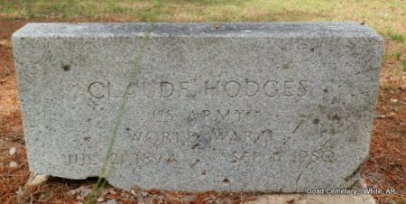 HODGES (VETERAN WWI), CLAUDE - White County, Arkansas   CLAUDE HODGES (VETERAN WWI) - Arkansas Gravestone Photos