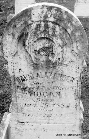 HOGAN, DAVID ALEXANDER (CLOSE UP) - White County, Arkansas | DAVID ALEXANDER (CLOSE UP) HOGAN - Arkansas Gravestone Photos