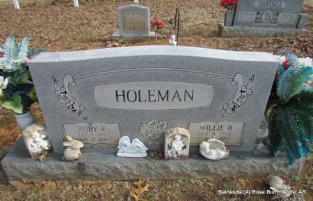 HOLEMAN, WILLIE B - White County, Arkansas   WILLIE B HOLEMAN - Arkansas Gravestone Photos