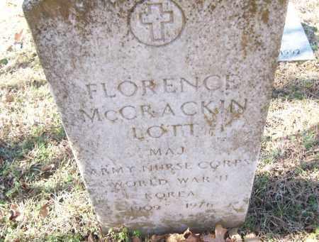 MCCRACKIN LOTT  (VETERAN 2 WAR, FLORENCE - White County, Arkansas | FLORENCE MCCRACKIN LOTT  (VETERAN 2 WAR - Arkansas Gravestone Photos