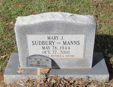 SUDBURY MANNS, MARY J - White County, Arkansas | MARY J SUDBURY MANNS - Arkansas Gravestone Photos