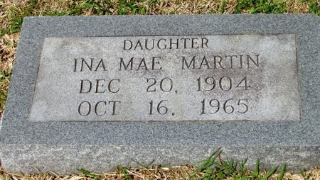 MARTIN, INA MAE - White County, Arkansas | INA MAE MARTIN - Arkansas Gravestone Photos