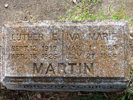 MARTIN, LUTHER E. (CLOSE UP) - White County, Arkansas | LUTHER E. (CLOSE UP) MARTIN - Arkansas Gravestone Photos