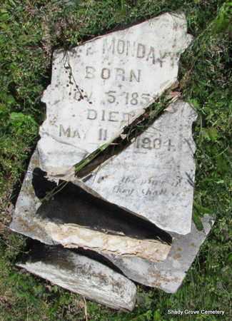MONDAY, W F - White County, Arkansas | W F MONDAY - Arkansas Gravestone Photos