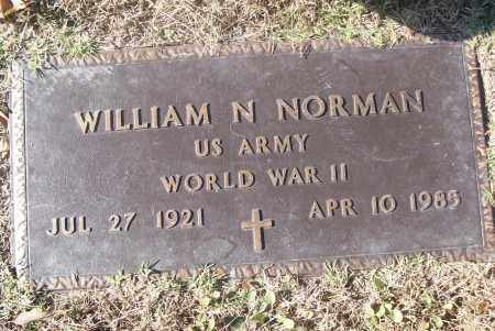 NORMAN  (VETERAN WWII), WILLIAM N - White County, Arkansas | WILLIAM N NORMAN  (VETERAN WWII) - Arkansas Gravestone Photos