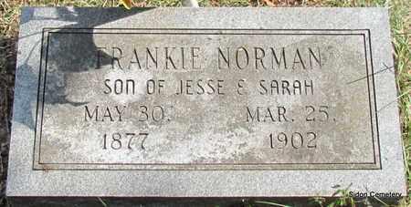 NORMAN, FRANKIE - White County, Arkansas | FRANKIE NORMAN - Arkansas Gravestone Photos