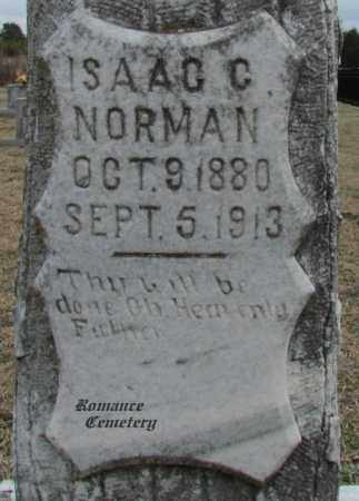 NORMAN, ISAACC (CLOSE UP) - White County, Arkansas | ISAACC (CLOSE UP) NORMAN - Arkansas Gravestone Photos