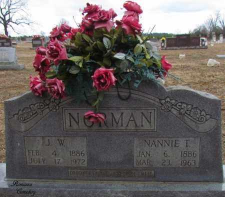 NORMAN, NANNIE T - White County, Arkansas | NANNIE T NORMAN - Arkansas Gravestone Photos