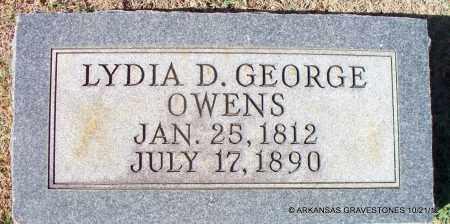 OWENS, LYDIA D - White County, Arkansas   LYDIA D OWENS - Arkansas Gravestone Photos
