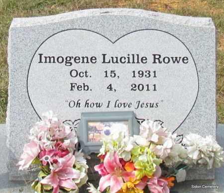 ROWE, IMOGENE LUCILLE - White County, Arkansas   IMOGENE LUCILLE ROWE - Arkansas Gravestone Photos