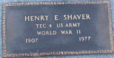 SHAVER (VETERAN WWII), HENRY E - White County, Arkansas   HENRY E SHAVER (VETERAN WWII) - Arkansas Gravestone Photos