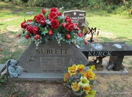 SUBLETT, DONNA SUE - White County, Arkansas   DONNA SUE SUBLETT - Arkansas Gravestone Photos