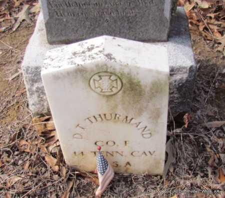 THURMAND (VETERAN CSA), D T - White County, Arkansas | D T THURMAND (VETERAN CSA) - Arkansas Gravestone Photos